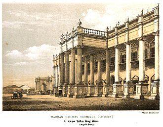 Chennai Central railway station - The station entrance c. 1870