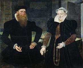 Portrait of Gillis Hooftman (1521-81). Shipowner, and his wife Margaretha van Nispen (b 1545)