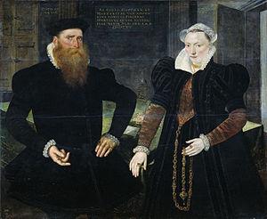 Gillis Hooftman - Gillis Hooftman and Margaretha von Nispen, painting by Marten de Vos