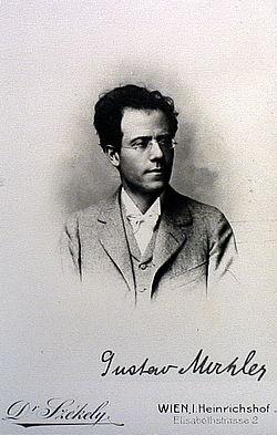 Gustav Mahler omkring 1885