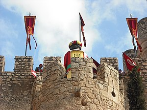 Moros y cristianos - The Moor Embassy in Atalaya Castle, Villena.