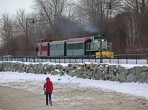 Eastern Promenade - The Maine Narrow Gauge Railroad transports passengers on a scenic tour of the Eastern Promenade