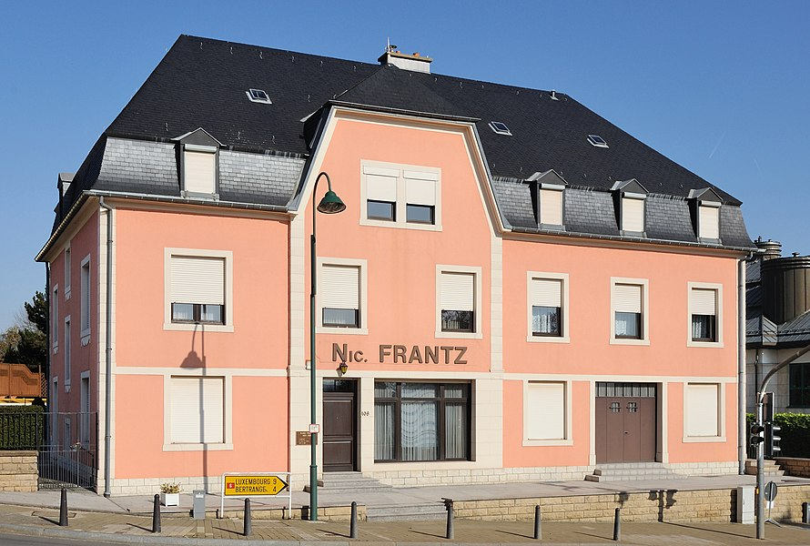 Luxembourg, Mamer: House of Nicolas Frantz (1899-1985), winner in 1927 and 1928 of the Tour de France.