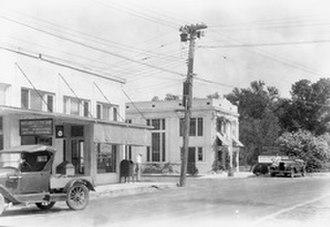 Maitland, Florida - A Street Corner in Lake Maitland, ca.1926