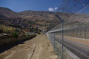 Purple Line (ceasefire line) - The Purple Line through Majdal Shams in the Golan Heights
