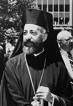 Makarios III - Archbishop President Makarios in New York City, United States, in 1962