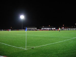 Maltby Main F.C. - A view of Muglet Lane during an evening game in 2004