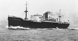 Manchester Liners - Manchester Progress 7,346 gross tons, built in 1938, served the line until disposal in 1966
