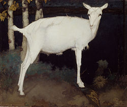 MANKES Jan Young white goat 1914