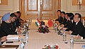 Manmohan Singh at a bilateral meeting with the Premier of the State Council of People's Republic of China, Mr. Wen Jiabao, on the sidelines of the 17th ASEAN Summit and Related Summits to be held in Hanoi, Vietnam (2).jpg