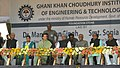Manmohan Singh at the Foundation Stone laying ceremony of Gani Khan Choudhury Institute of Engineering & Technology (GKCIET), in Malda, West Bengal. The Governor of West Bengal, Shri M.K. Narayanan.jpg