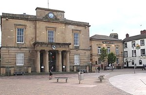 Mansfield - Old Town Hall and Old Court building at the head of the Market Place built from local stone