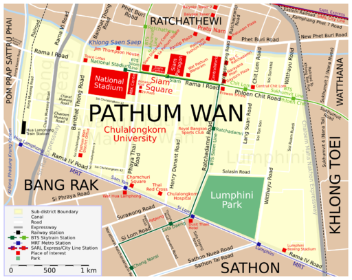 Map Pathum Wan