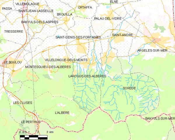 Laroque Des Alberes Map Map of Laroque Des Alb Res And