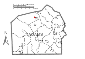 Map of Bendersville, Adams County, Pennsylvania Highlighted.png