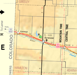 KDOT map of Hamilton County (legend)