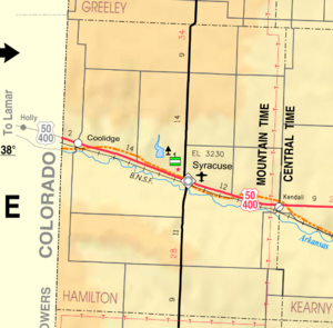 Hamilton County, Kansas - Image: Map of Hamilton Co, Ks, USA