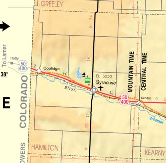 Hamilton County, Kansas - Image: Map of Hamilton Co, Ks, USA