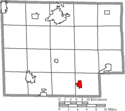 Location of Greenwich in Huron County