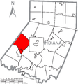 Map of Indiana County, Pennsylvania Highlighting Armstrong Township.PNG
