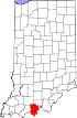 State map highlighting Perry County