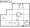 Map of Medina County Ohio Highlighting Rittman City.png