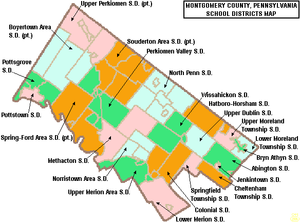 Norristown Area School District - Image: Map of Montgomery County Pennsylvania School Districts