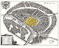 Map of Moscow by Matthäus Merian Kitay-gorod selected.jpg