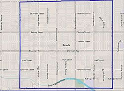 Boundaries of Reseda as drawn by the Los Angeles Times