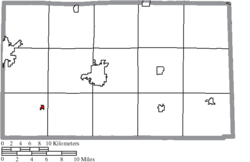 Location of New Riegel in Seneca County