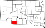 State map highlighting Bennett County