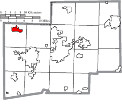 Location of Canal Fulton in Stark County