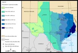 Geografía De Texas Wikipedia La Enciclopedia Libre - Mapa de texas usa