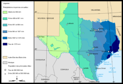 Map of Texas precipitations.png