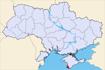 Political map of Ukraine, highlighting Sevastopol