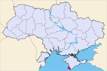 Political map of Ukraine, highlighting Sevastopol