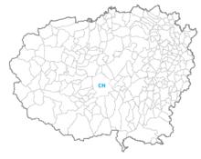 I confini territoriali dei comuni della provincia di Cuneo. Il capoluogo è identificato dalla sigla biletterale.