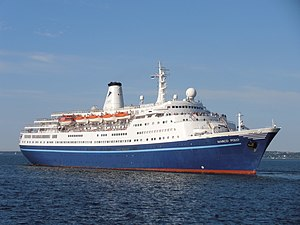 Cruise & Maritime Voyages - Image: Marco Polo Port of Tallinn 2 August 2012