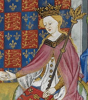 Henry VI of England - Margaret of Anjou, depicted in the Talbot Shrewsbury Book, 1444–45