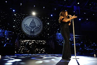 "Music Box (Mariah Carey album) - Carey performing ""Hero"" live during The Neighborhood Inaugural Ball for President Obama in Washington D.C.."