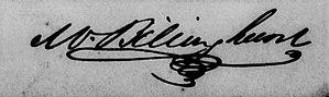 Mariano Billinghurst - Image: Mariano Billinghurst (firma)