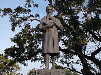 Robert Caldwell - Robert Caldwell's statue at Marina Beach, Chennai, Tamil Nadu.