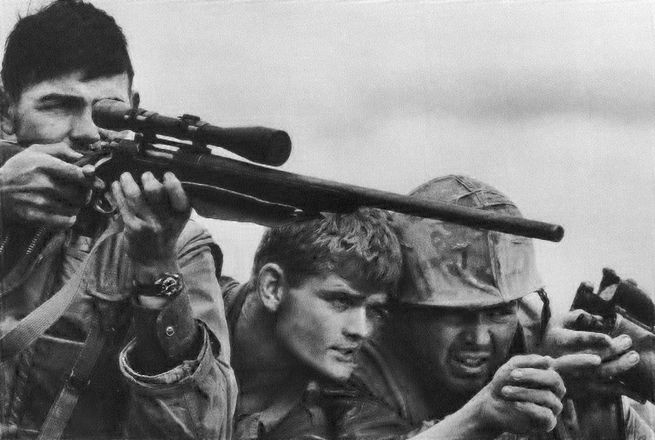 Marine Corps sniper team, Khe Sanh Valley