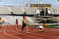 Mark Whiteman racing at Barcelona 1992 Paralympics.jpg