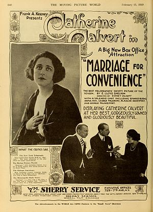 Catherine Calvert - Marriage for Convenience (1919)