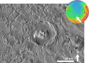 Nicholson (Martian crater) - Crater Nicholson based on THEMIS day-time image