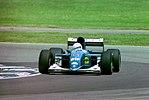 Martin Brundle - Ligier JS39 during practice for the 1993 British Grand Prix (33645908586).jpg
