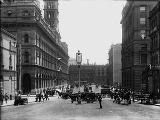 Martin Place - Moore Street/Martin Place circa 1900