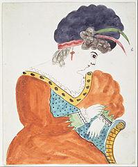 Young Woman Wearing a Turban