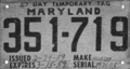 Maryland temporary tag, Hudson (March 1959).png